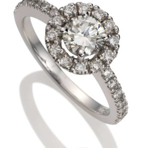 """Halo"" diamond ring"