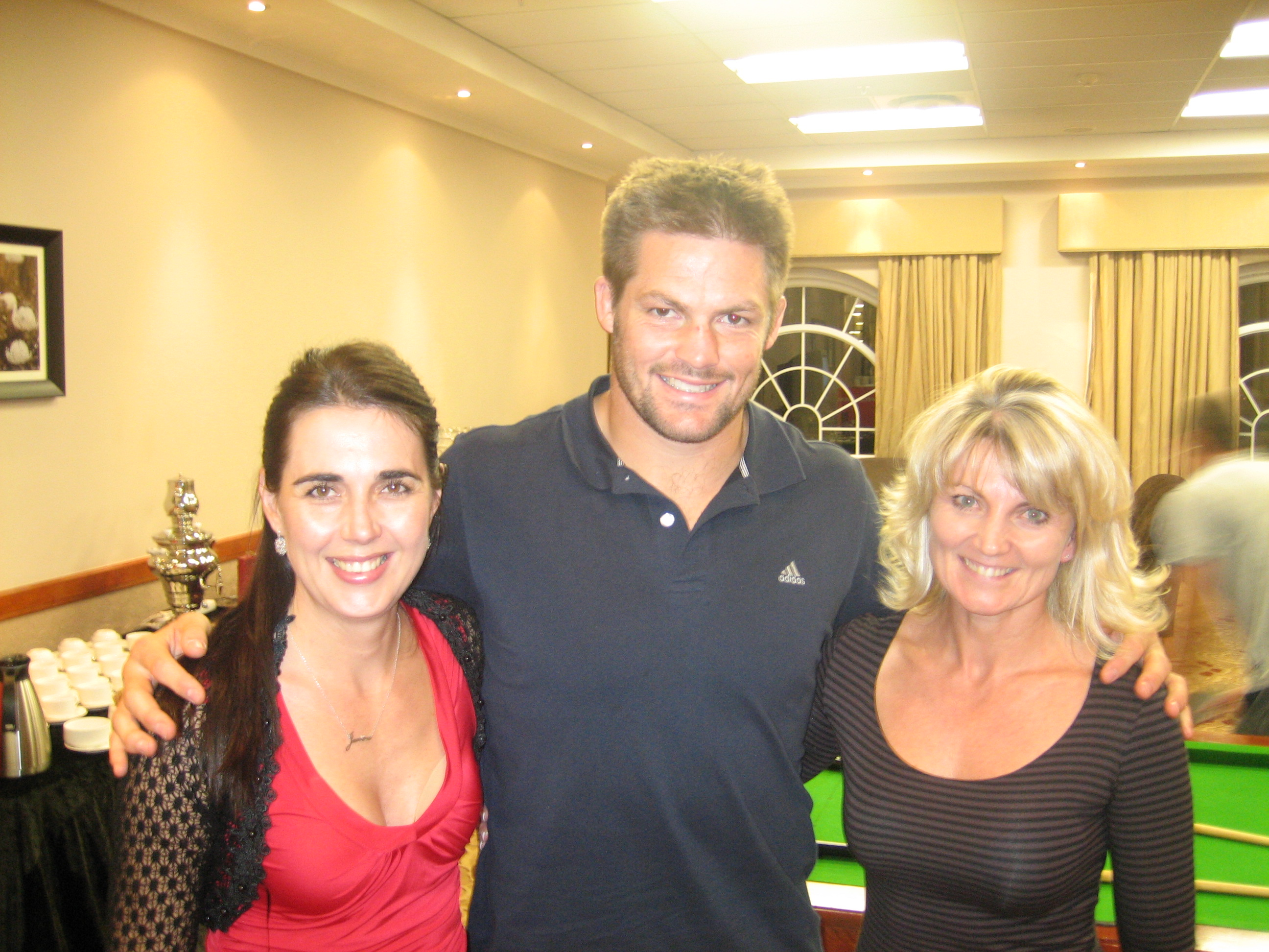Janine,Richie MaCaw and Brigitte, Crusaders and All Blacks 2010