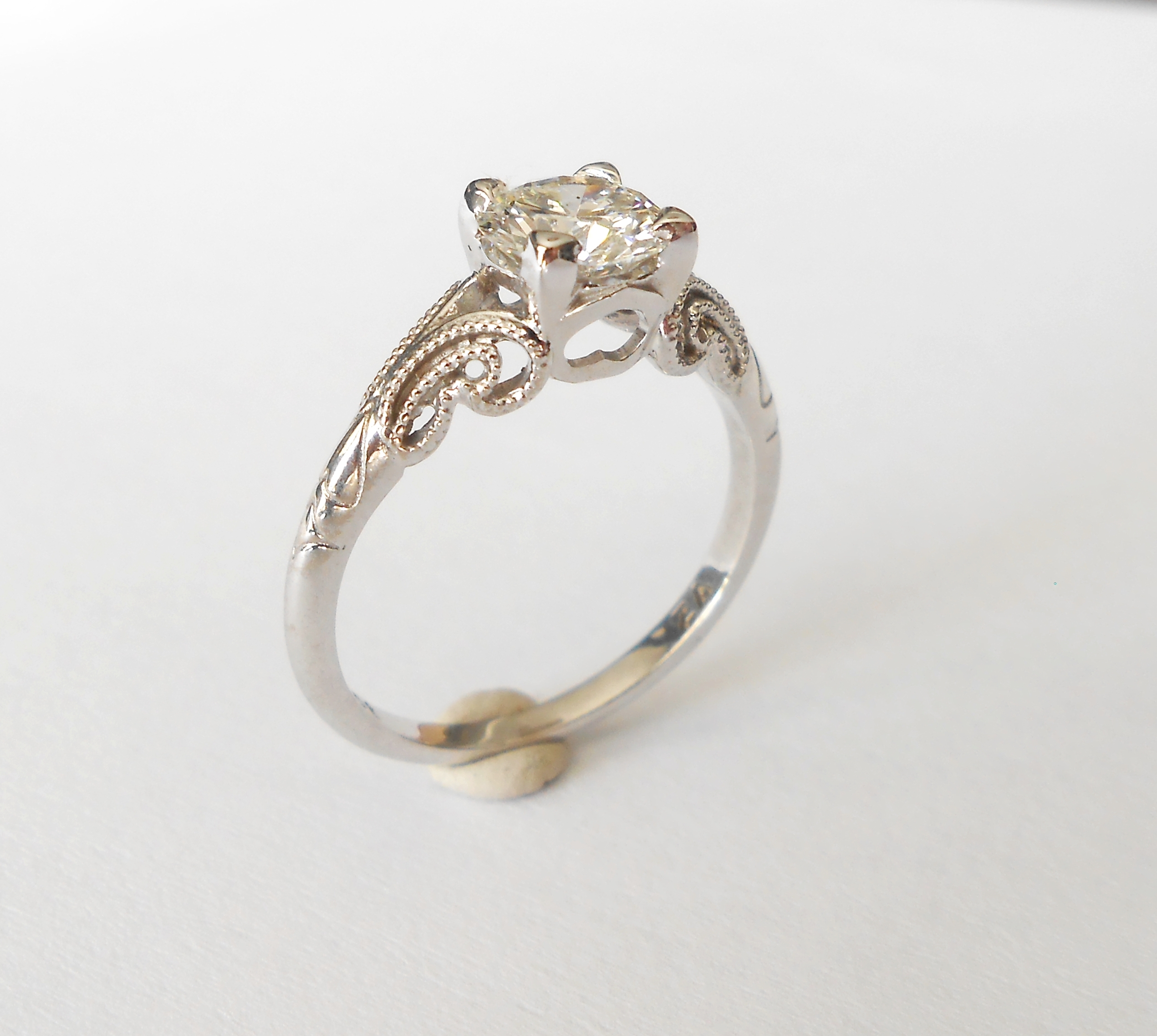 bands gold inspirational ring wedding wnqggbmlfqwftilnraps rose victorian diamond antique