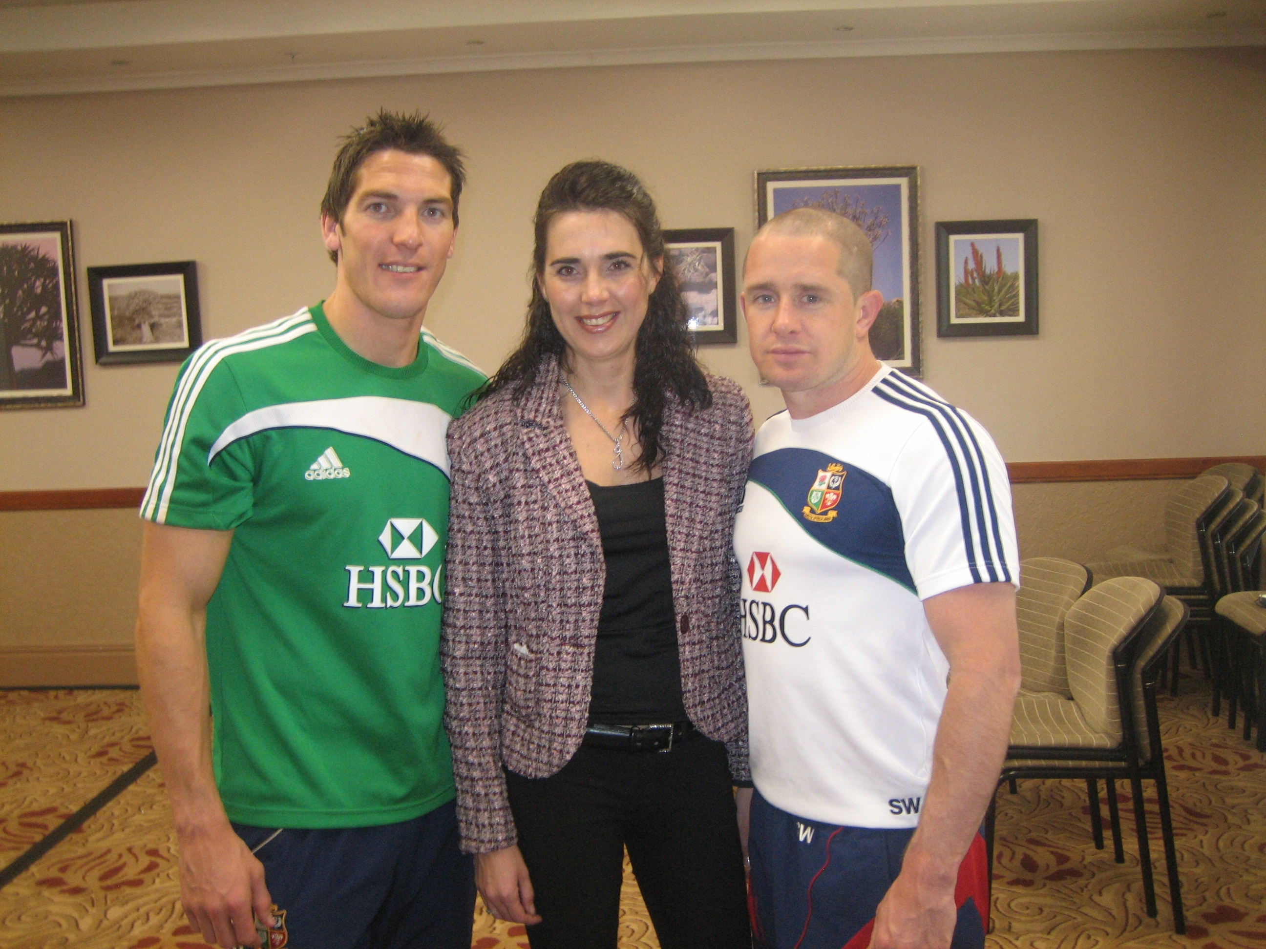 Janine & Shane Williams British Irish lions 2009