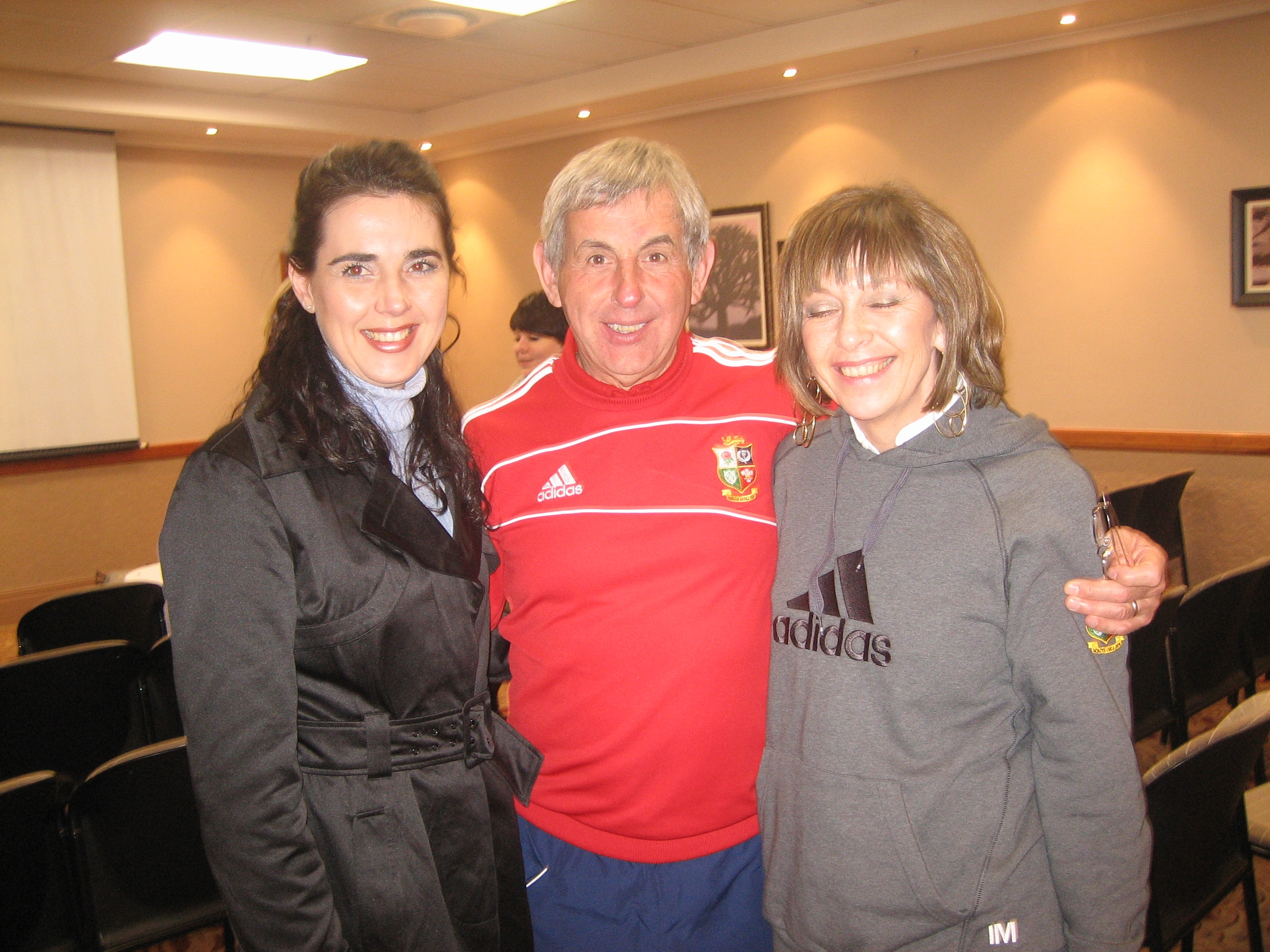 Janine with Ian & Judy mC Geeghan, Brigitish Irish Lions coach 2009