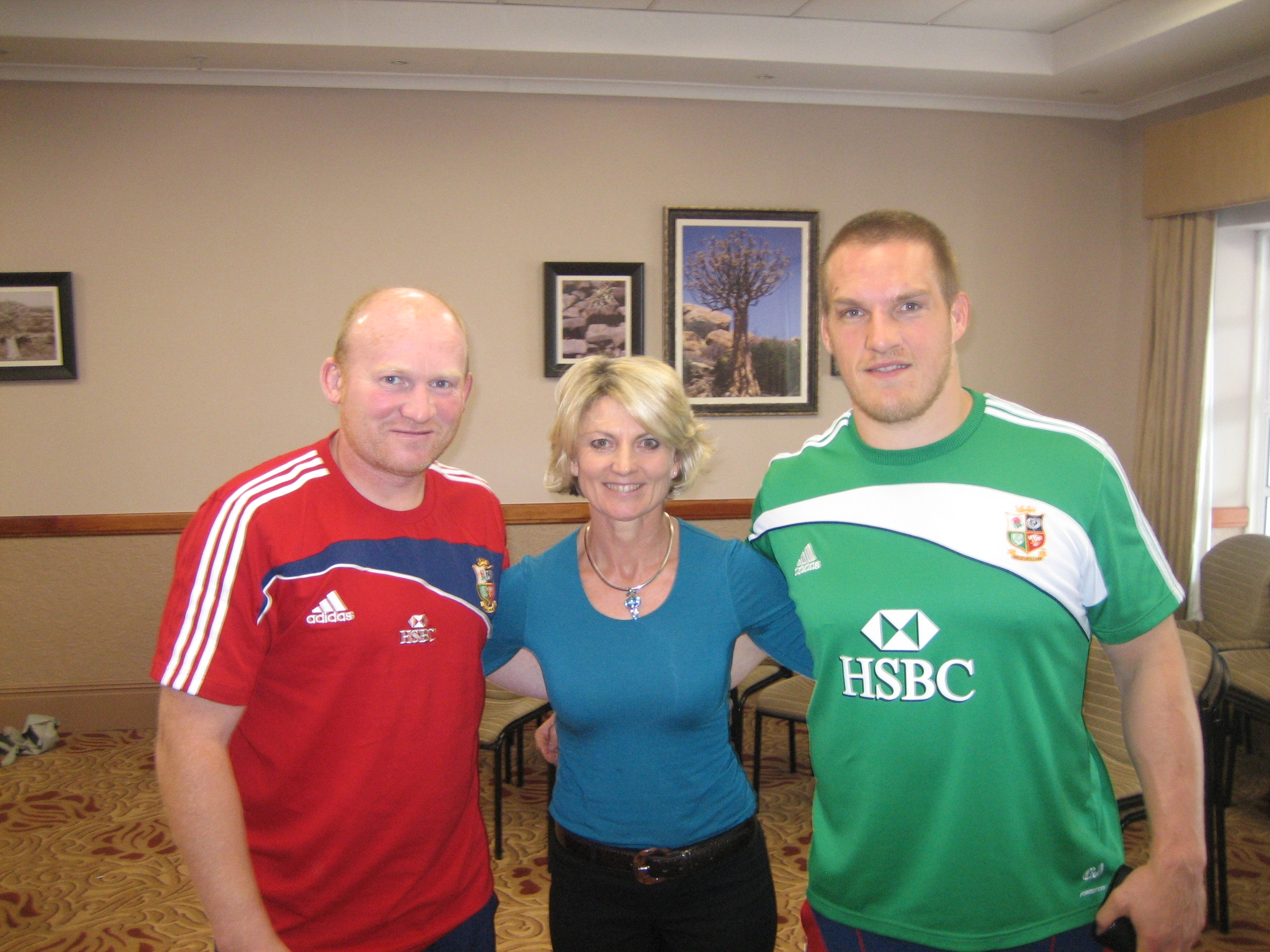 Neil Jenkins, Brigitte Jenkinson & Gethin Jenkins British Irish Lions 2009