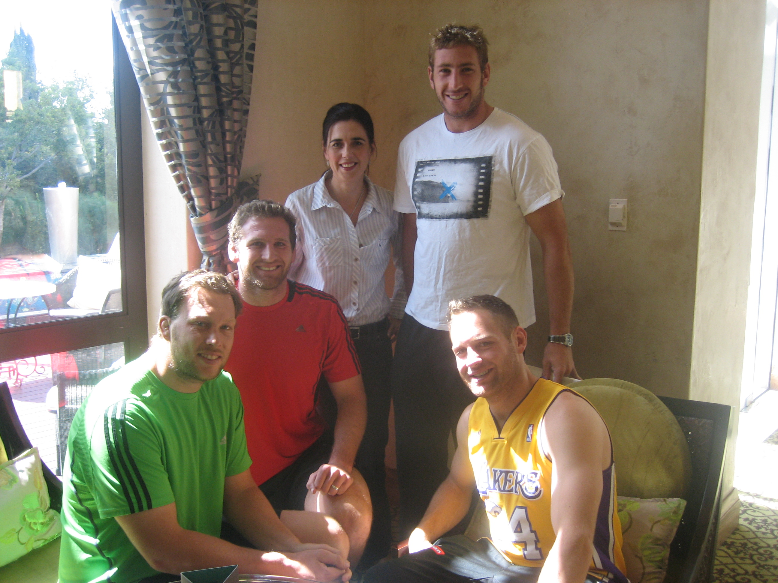 Wyatt Crockett, Kieran Read, Luke Romano and Andy Ellis with Janine , Crusaders 2012