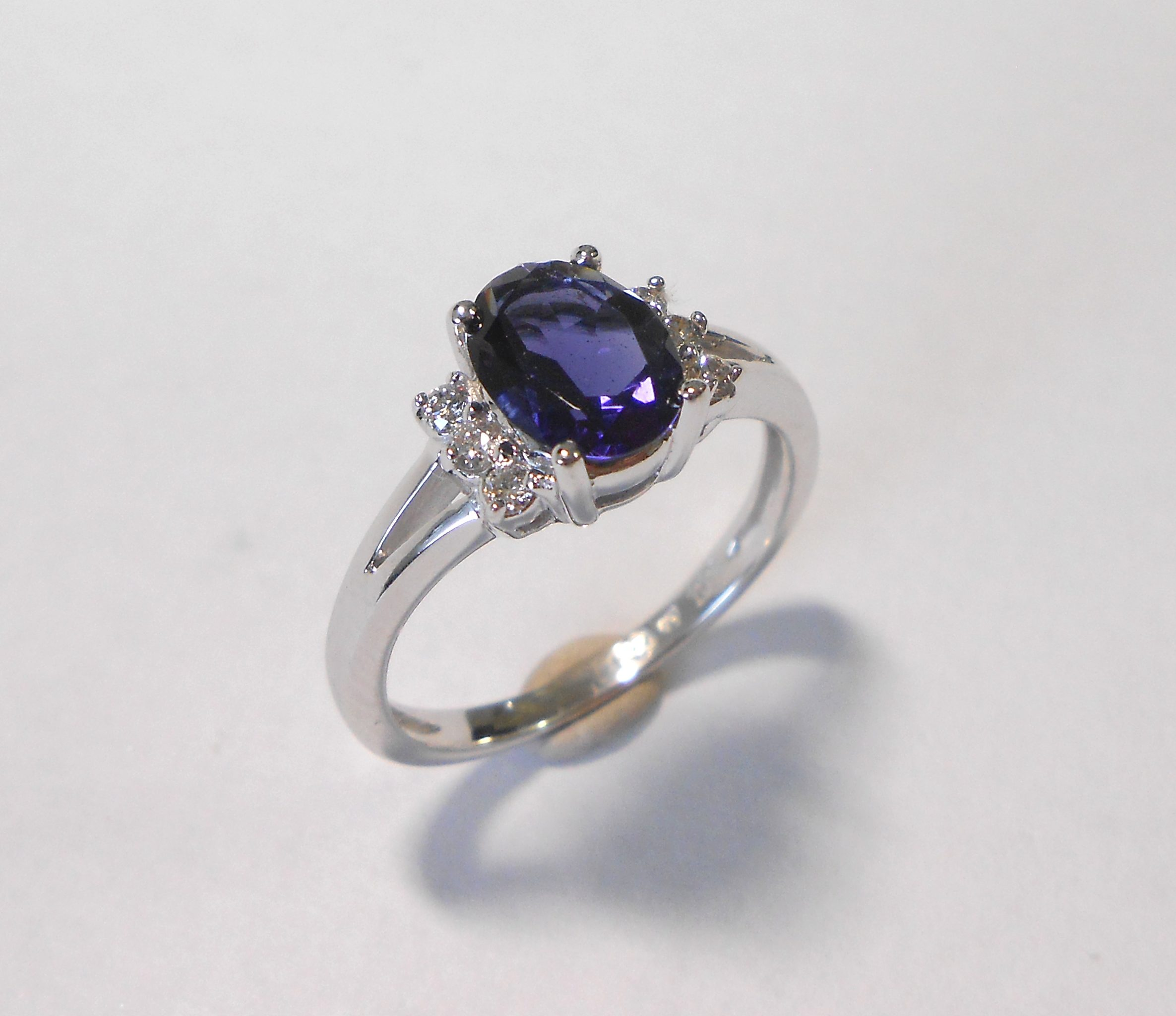 engagement ring product amethyst gold white jewellers ct anania rings cts amethist