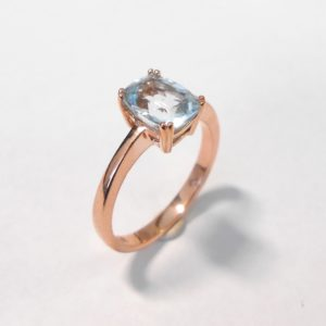 Rose gold topaz dress ring