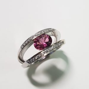 Tourmaline Split-Band Ring