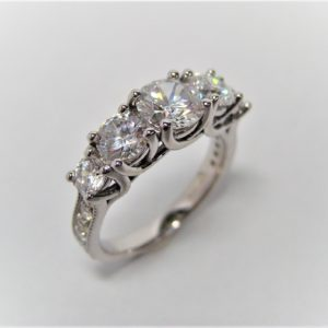 Cascading Diamond Engagement Rings